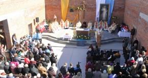 Wmurowanie Kamienia Węgielnego w parafii Bożego Miłosierdzia w Żytomierzu