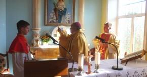 Освящение каплицы в Соколове.